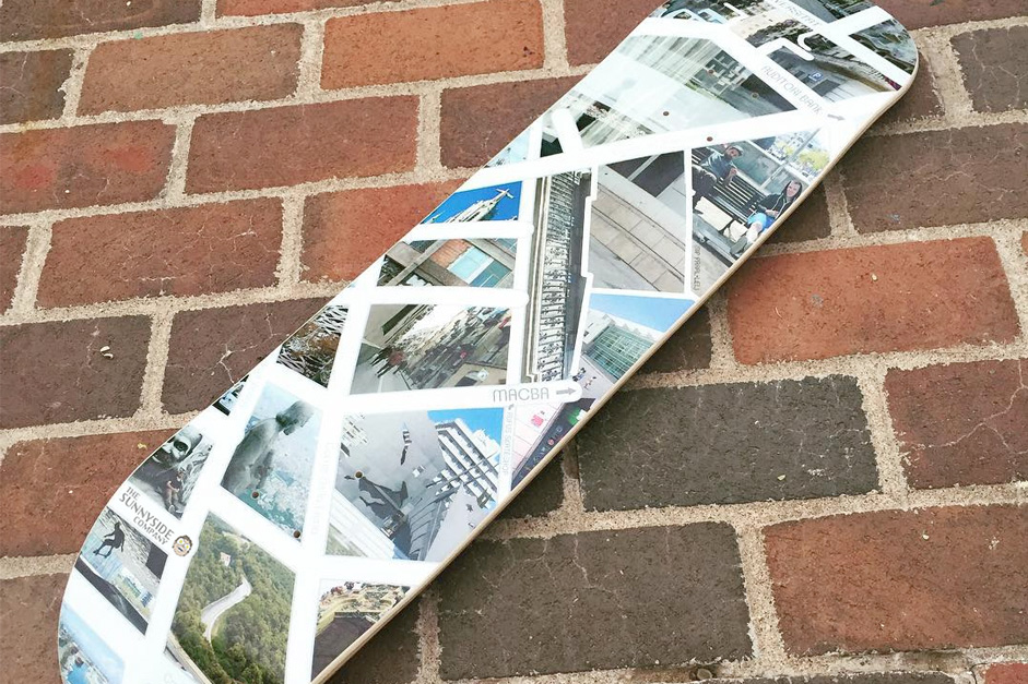 Barcelona Skateboard Map Deck